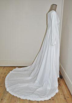 Vintage 60's Terry Cooper Overlay Skirt Wedding Dress | eBay
