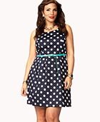 Calling all-plus sized teens and women...! check out Wetseal for a Polka-Dot A-line with a sky blue belt for only $24.80, for more information go to wetseal.com in plus-size section under dresses, or your local store (locations may vary)