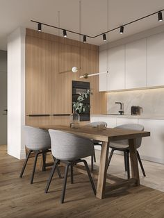 Fantastic modern kitchen room are readily available on our internet site. Kitchen Room Design, Modern Kitchen Design, Living Room Kitchen, Home Decor Kitchen, Kitchen Interior, Home Kitchens, Luxury Kitchens, Office Interior Design, Interior Design Living Room