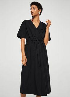 7e4d9ca2ba Belt linen dress - Women