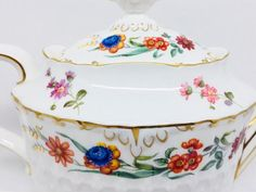 Royal Crown Derby Chatsworth Teapot Multicolour Flowers on
