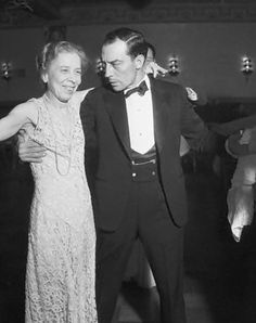 Buster Keaton with his mother, Myra. Yes, I do believe they are dancing…  I'm dying. They're killing me with their adorableness!