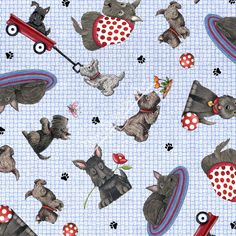 New  Scottie Allover  Mary Engelbreit  Fat by BywaterFabric