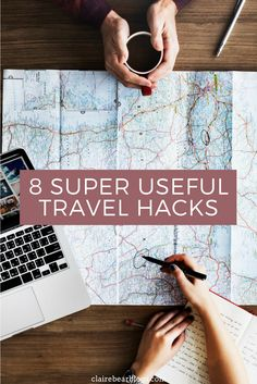 Want to make the most out of your travel? Check out these 8 super useful travel hacks to save time, money, and space. (cute checklist & printable are included)   travel tips   travel items   useful travel guide