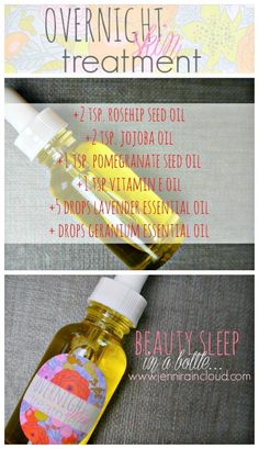 DIY Overnight Skin Treatment with Pomegranate and Geranium Homemade Serum!!