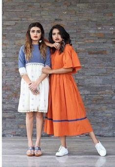 36 trendy how to wear denim dress flats India Fashion, Boho Fashion, Fashion Dresses, Dress Flats, Dress Up, Choli Dress, Classy Casual, Mode Hijab, Kurta Designs