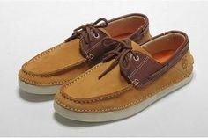 earthkeepers timberland mens 2 eye waterproof boat shoes yellow brown