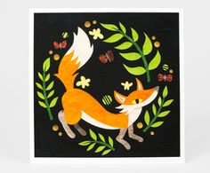 kate-endle-fox-in-the-ferns-print