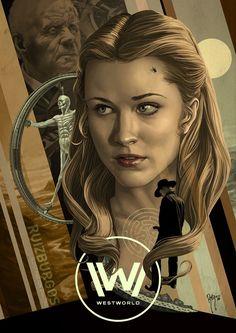 """kogaionon: """"Westworld by Ruiz Burgos / Blog / DeviantArt / Facebook / Twitter / Instagram """""""