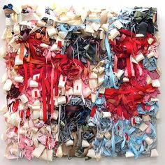 Ribbon and textile work by Vadis Turner