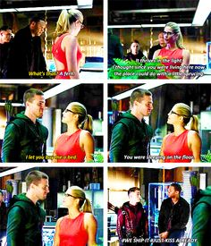 Arrow - Roy, Diggle, Oliver and Felicity #3.1 #Season3 #Olicity