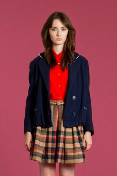 Vintage nautical wool jacket  Navy Dresses #2dayslook  #sasssjane #jamesfaith712 #NavyDresses  www.2dayslook.com