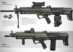 ArtStation - FN M250 SAW, Su Wang