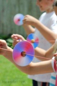 Homemade Toys ~ Button Spinner