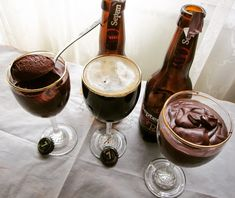Μοριακή μους σοκολάτας <br>με μπύρα Septem Porter