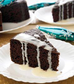 """Aprende a preparar nuestro delicioso """"Pastel de chocolate con salsa de vainilla"""""""