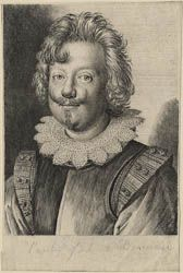 Ottavio Leoni (Rome, 1578-1630) ~ Paolo Giordano II Orsini, Duke of Bracciano ~ Engraving ~ ca.1623 ~ Printed from the earlier of the two plates that Leoni engraved of the Duke. This portrait is close to the earliest of Leoni's known drawings of him (Louvre, Paris), dated 1620. Orsini was raised in the Medici court of Florene and was an artist, musician and published poet.