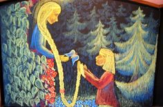 Waldorf ~ 1st grade ~ Fairy Tales ~ Rapunzel ~ chalkboard drawing