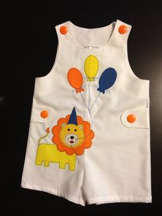 Leo the Lion Birthday Jon Jon Kids Dress Patterns, Baby Clothes Patterns, Baby Kids Clothes, Toddler Outfits, Baby Boy Outfits, Kids Outfits, Girls Kurti, Baby Boy Dress, White Flower Girl Dresses