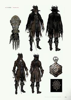 Bloodborne Concept Art, Bloodborne Art, Bloodborne Outfits, Dark Fantasy, Fantasy Art, Blood Hunter, Dark Souls Art, Soul Art, Character Design Inspiration