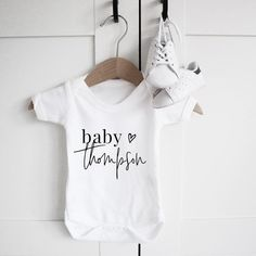 Baby Announcement | Paper and Wool | baby clothes | pregnancy announcement | baby grow | new baby gift | baby shower idea