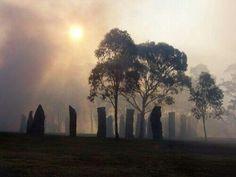 Standing stone circle.
