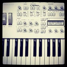 My sexy synth! #virusti #synth #virus #keys #keyboard