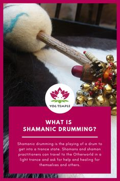Shamanic drumming is the playing of a drum to get into a trance state. Shamans and shaman practitioners can travel to the Otherworld in a light trance to . Ayurveda, Alternative Heilmethoden, Ask For Help, Drums, Shamanism, Drum, Healing, Drum Sets