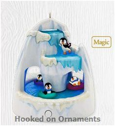 Frosty Falls 2010 Hallmark Christmas Ornament - Penguins - Ice - Let It Snow 795902136598 Penguin Ornaments, Hallmark Christmas Ornaments, Hallmark Keepsake Ornaments, Christmas Candy, Christmas Decorations, Christmas Tree, Penguins And Polar Bears, Christopher Radko Ornaments, Ornament Hooks