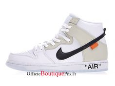 Nike SB Dunk High Off White White Black Chaussure Nike Sneaker Prix Pour Homme/Femme - - Boutique Sneakers Officielle Pas Cher (FR) Basket Nike Air, Baskets Nike, Jordans Sneakers, Air Jordans, High Top Sneakers, Yeezy, Nike Air Max, Arizona, Nike Pas Cher