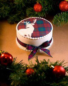Lindsay Tartan Stag Christmas Cake | Lindsay Edible Tartan C… | Flickr