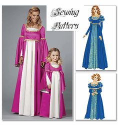 McCall's 6141 Sewing Pattern to MAKE Renaissance Costume Child or ...