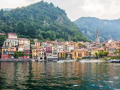 The best Varenna restaurants at Lake Como including vegetarian-friendly restaurants and where to eat breakfast, gelato, and aperitivo with a view.