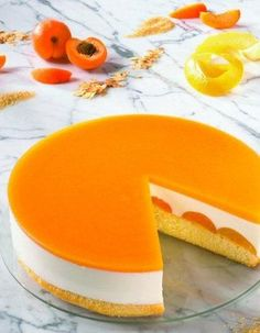 Apricot Yogurt Mousse Cake {Recipe In German}