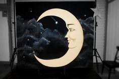 Prohibition Paper Moon and Bench Photo Booth