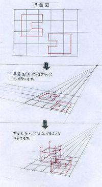 鳥瞰パースの描き方