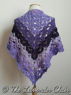 Mirrored Gemstone Lace Shawl - Free Crochet Pattern - The Lavender Chair 1