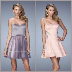 La Femme 22022 and 21982 short dresses - homecoming dresses - prom dresses  - cocktail dresses