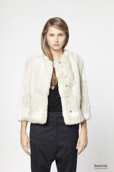creamy-white rabbit jacket I – horovitz