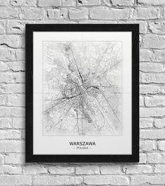 Mapa - plakat - Warszawa  Gdzie kupić? www.eplakaty.pl