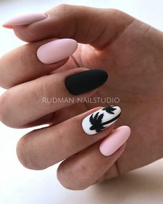 Nail Design for Summer 2019 - New Ideas for Summer Manicure, The Latest Trends i. Nail Design for Summer 2019 - New Ideas for Summer Manicure, The Latest Trends in Summer Nail Art in The Photo Summer Acrylic Nails, Best Acrylic Nails, Summer Nails, Matte Nails, Acrylic Nail Designs For Summer, Black Nails, Spring Nails, Elegant Nail Art, Nails Design With Rhinestones