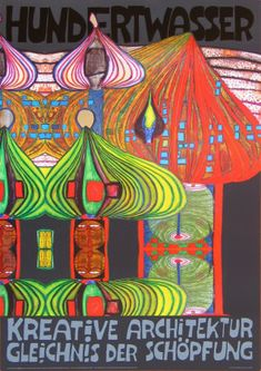 Discovered Friedensreich Hundertwasser in Switzerland. Have a few pieces. His work is always so colorful with great lines.
