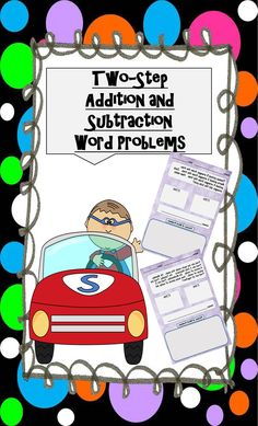 225 Two-Step Addition and Subtraction Word Problems for 1st-3rd Grades
