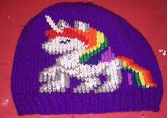 NL crafts: unicorn hat Unicorn Hat, Angel Ornaments, Different Colors, Purple, Hats, Red, Hat, Viola, Hipster Hat