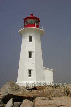 Lighthouse Peggy's Cove Nova Scotia Canada by msvicwaas on Etsy.
