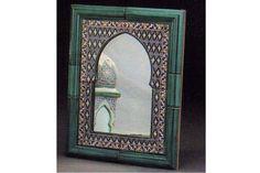 Espejo Artesanal marroquí Granja Shabby Envejecido bohemio Granero India