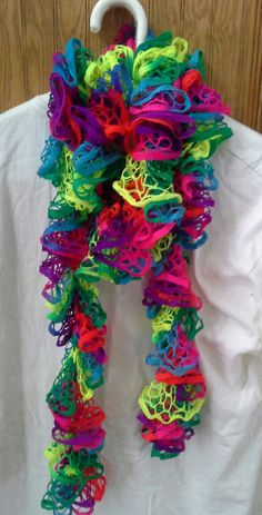 Beautiful Multi Color Neon Chrysalis Ruffle by crazyforcolors2, $16.00