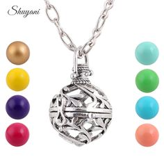 Find More Pendant Necklaces Information about 10pcs/lot Viantge Hollow Openable Cage Shape Locket Necklace Colorful Harmony Ball Angel Ringing Chime Pendant Pregnant Necklace,High Quality pendant base,China necklace aqua Suppliers, Cheap pendant shoe from shuyani Official Store on Aliexpress.com
