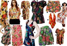 Image result for hawaiian print dress