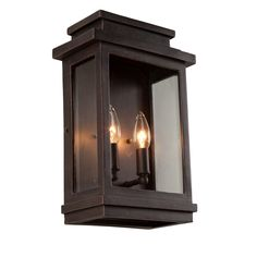 Artcraft Lighting AC8391ORB Fremont 2 Light Outdoor Wall Lantern Oil Rubbed Bronze Outdoor Lighting Wall Sconces